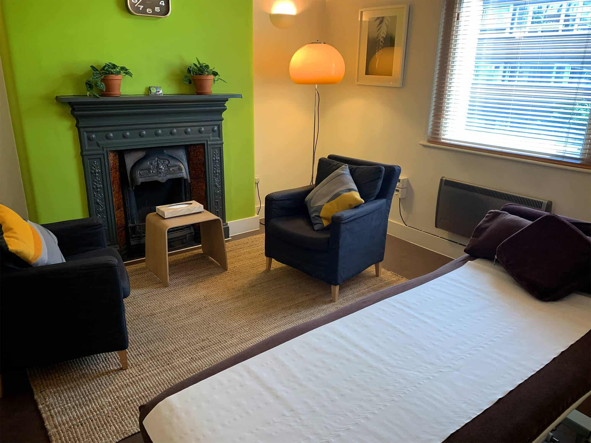 Room 4 our talking and manual therapy room to rent for Central and East London in Bethnal Green